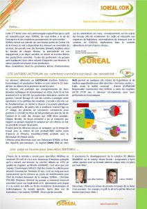 lettre d'information du groupe SOREAL.